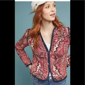 Anthropologie Waverly Quilted Jacket XS New